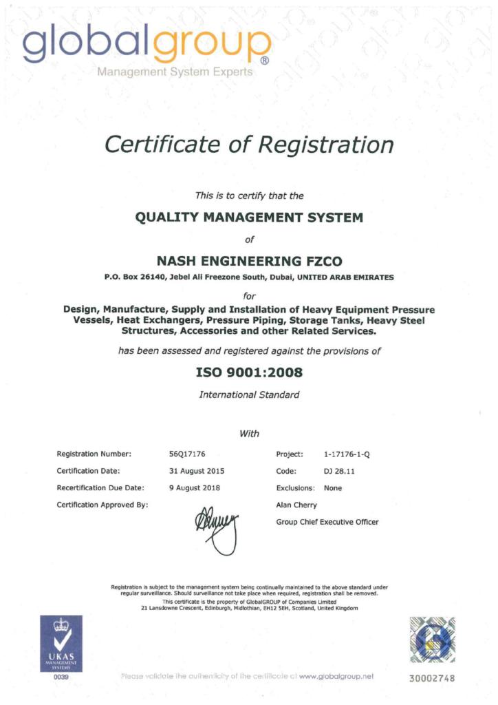 Nash certifications